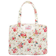 Buy Cath Kidston Field Rose Large Zip Bag, Cream Online at johnlewis.com