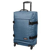 Buy Eastpak Transmitter 4-Wheel Medium Holdall, Denim Online at johnlewis.com
