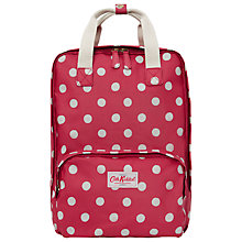 Buy Cath Kidston Button Spot Backpack, Cranberry Online at johnlewis.com