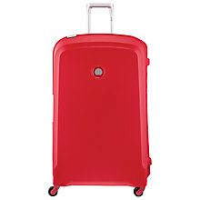 Buy Delsey Belfort 4-Wheel 82cm Exra Large Suitcase, Red Online at johnlewis.com