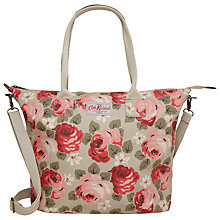 Buy Cath Kidston Aubrey Rose Tall Zipped Tote, Stone Online at johnlewis.com