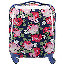 Buy Cath Kidston 4-Wheel Aubrey Rose Hard Cabin Case, Blue Online at johnlewis.com