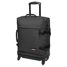 Buy Eastpak Transmitter 4-Wheel 55cm Cabin Suitcase, Black Online at johnlewis.com