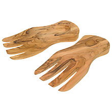 Buy John Lewis Olive Wood Salad Hands Online at johnlewis.com