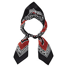 Buy Viyella Striped Pacement Square Scarf, Black Online at johnlewis.com