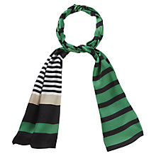 Buy Viyella Amazon Striped Silk Scarf, Multi Online at johnlewis.com