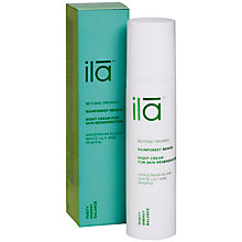 Buy Ila Spa Rainforest Renew Night Cream, 50ml Online at johnlewis.com