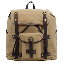 Buy JOHN LEWIS & Co. Canvas Backpack, Mustard Online at johnlewis.com