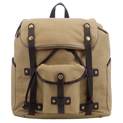 Buy JOHN LEWIS & Co. Canvas Backpack, Sand Online at johnlewis.com