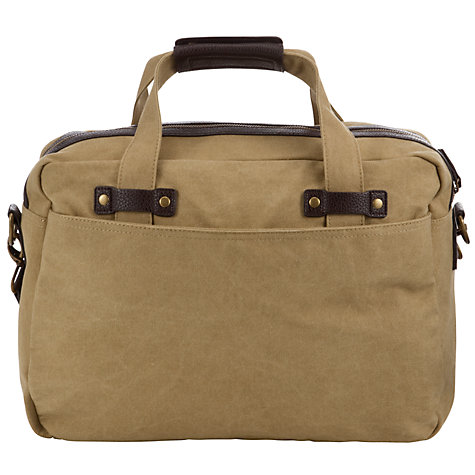 Buy JOHN LEWIS & Co. Canvas Flight Bag, Sand Online at johnlewis.com