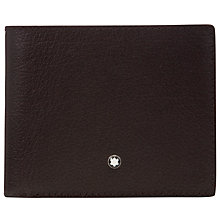 Buy Montblanc Meisterstück Tuscany Leather 8 Card Wallet, Black Online at johnlewis.com