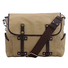 Buy JOHN LEWIS & Co. Canvas Satchel, Khaki Online at johnlewis.com