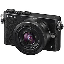 "Buy Panasonic Lumix DMC-GM1 Compact System Camera, 12-32mm Lens, HD 1080i, 16MP, Wi-Fi, 3"" LCD, Black with FREE Leather Case Online at johnlewis.com"