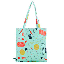 Buy Donna Wilson for John Lewis Pins and Needles Tote Bag, Mint Online at johnlewis.com