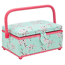 Buy John Lewis Blossom Filled Sewing Basket, Small Online at johnlewis.com