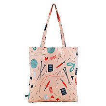 Buy Donna Wilson for John Lewis Pins and Needles Tote Bag, Peach Online at johnlewis.com