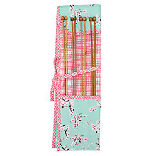 Buy John Lewis Blossom Knitting Needle Roll, 8 Pairs, Blue/Pink Online at johnlewis.com
