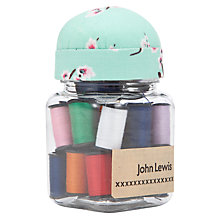Buy John Lewis Blossom Thread Jar, Blue/Pink Online at johnlewis.com