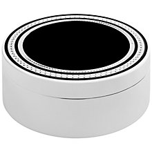 Buy Vera Wang With Love Noir Trinket Box, Silver/Black Online at johnlewis.com