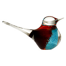 Buy Svaja Grand Basil Bird Paperweight, H11cm, Brown/ Teal Online at johnlewis.com