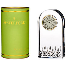 Buy Waterford Lismore Essence Clock, Clear Online at johnlewis.com