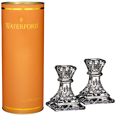 Waterford Lismore Candlestick, Clear, Set Of 2