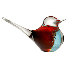 Buy Svaja Big Basil Bird Paperweight, Brown/ Teal Online at johnlewis.com