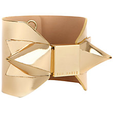 Buy Ted Baker Bowalic Mirrored Leather Cuff Online at johnlewis.com