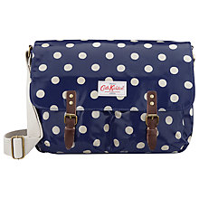 Buy Cath Kidson Saddle Across Body Bag, Blue Spot Online at johnlewis.com