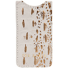 Buy Ted Baker Crocita Exotic iPhone Case, Grey Online at johnlewis.com