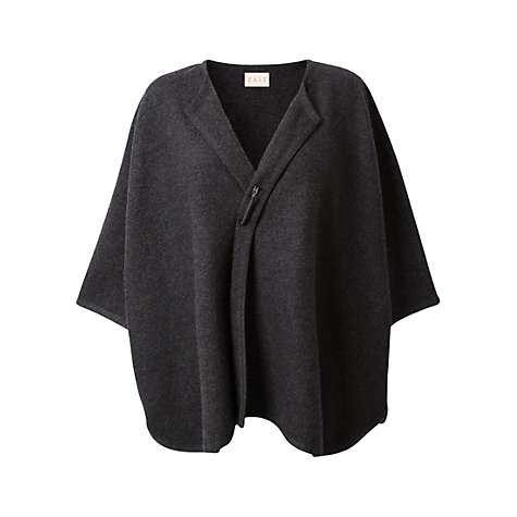 Buy East Graphite Boiled Wool Cape, Graphite Online at johnlewis.com