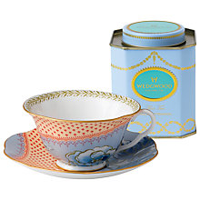 Buy Wedgwood Butterfly Bloom Cup and Saucer Set, Orange/Blue + FREE Tea Caddy Online at johnlewis.com