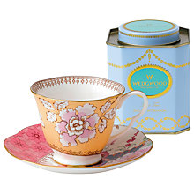 Buy Wedgwood Butterfly Bloom Cup and Saucer Set, Yellow + FREE Tea Caddy Online at johnlewis.com