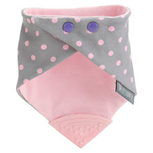 Buy Cheeky Chompers Neckerchew Baby Bib, Grey/Pink Online at johnlewis.com