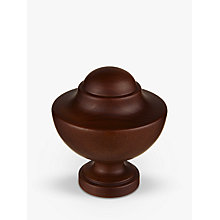 Buy John Lewis Espresso Kiel Finial, Dia.35mm Online at johnlewis.com