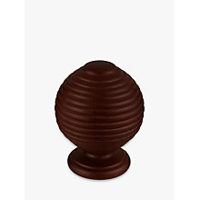 Buy John Lewis Espresso Ribbed Ball Finial, Dia.35mm Online at johnlewis.com