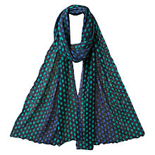 Buy East Alma Bubble Scarf, Navy Online at johnlewis.com