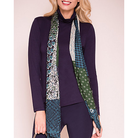 Buy East Fine Wool Printed Scarf, Gem Online at johnlewis.com