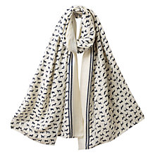 Buy East Archie Print Scarf, White Online at johnlewis.com