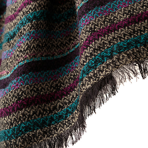 Buy East Zig Zag Stripe Scarf, Multi Online at johnlewis.com