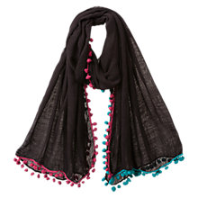 Buy East Pompeii Pom Pom Scarf, Navy Online at johnlewis.com