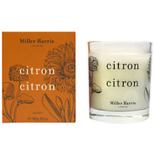 Buy Miller Harris Citron Citron Candle, 185g Online at johnlewis.com