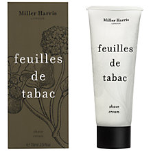 Buy Miller Harris Feuilles De Tabac Shave Cream, 75ml Online at johnlewis.com