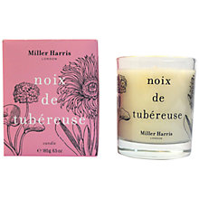 Buy Miller Harris Noix De Tubéreuse Candle, 185g Online at johnlewis.com