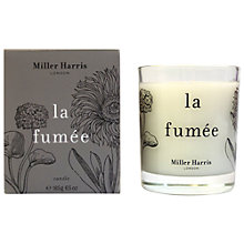 Buy Miller Harris La Fumée Candle, 185g Online at johnlewis.com