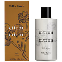Buy Miller Harris Citron Citron Body Lotion, 250ml Online at johnlewis.com