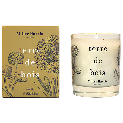 Buy Miller Harris Terre De Bois Candle, 185g Online at johnlewis.com