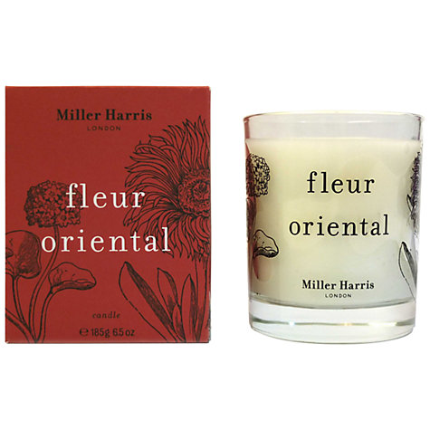 Buy Miller Harris Fleur Oriental Candle, 185g Online at johnlewis.com