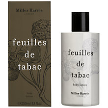 Buy Miller Harris Feuilles De Tabac Body Lotion, 250ml Online at johnlewis.com