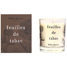 Buy Miller Harris Feuilles De Tabac Candle, 185g Online at johnlewis.com